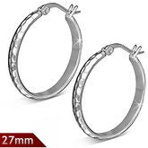 Hammered Finish Hoops