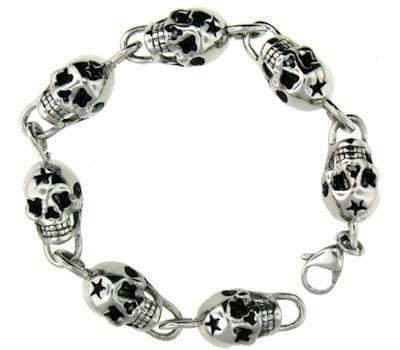 Skull and Star Bracelet