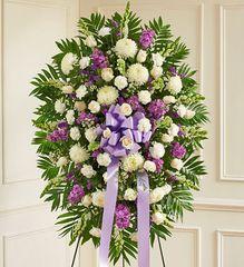 Lavender and White Sympathy Standing Spray- sym27