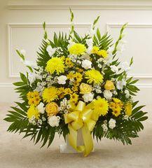Heartfelt Tribute Floor Basket Arrangement- sym40