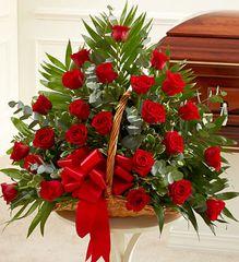 Sincerest Sympathies Fireside Basket - Red- sym41