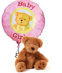 It's A Girl Bear & Balloon - new10