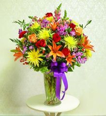 Colorful Sympathy Vase - hom04