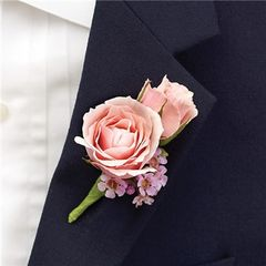 PINK RING BEARER BOUTONNIERE - wed22