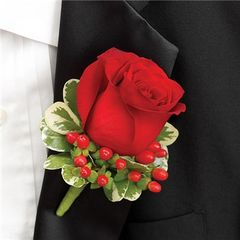 ALL RED BOUTONNIERE - wed26