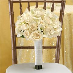 ALL WHITE BRIDAL BOUQUET - wed35