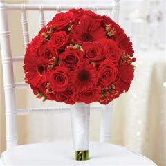 ALL RED BRIDAL BOUQUET - wed37
