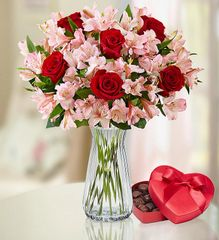 True Love Rose & Peruvian Lily Bouquet - val81