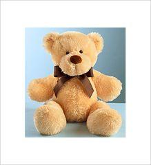 "Plush Beige Bear 22"" - VAL86"