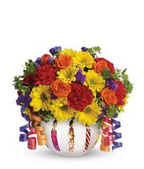 Brilliant Birthday Blooms Bouquet - bir101