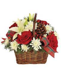 Rustic Christmas Basket - chr12