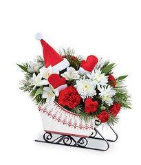 Santa's Sleigh Bouquet - chr35