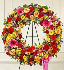 Serene Blessings Bright Standing Wreath- sym21