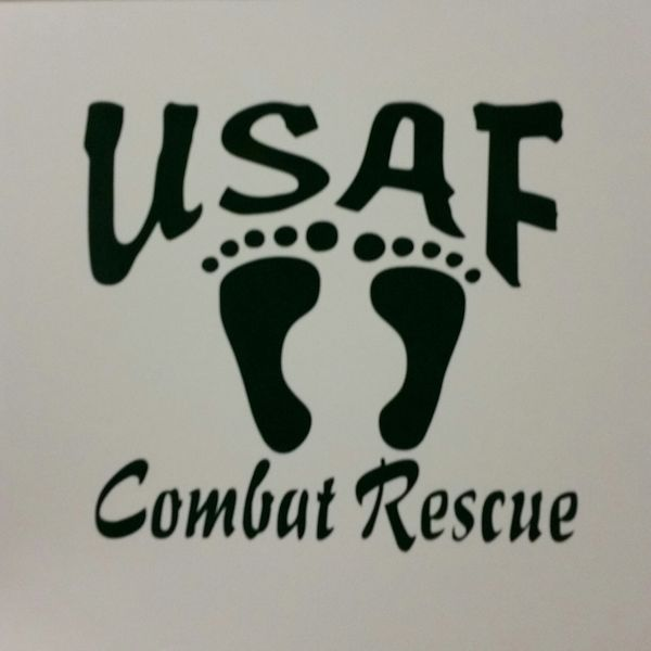 Combat Rescue Vinyl Window Decal