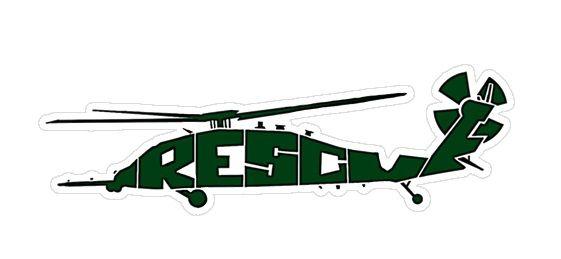 Green HH-60G Air Force Combat Rescue CSAR Vinyl Window Sticker