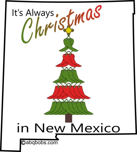 It's Always Christmas in New Mexico Sticker