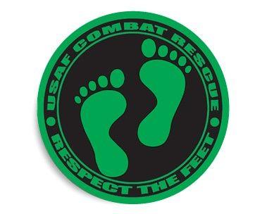 USAF Combat Rescue Respect the Feet Sticker