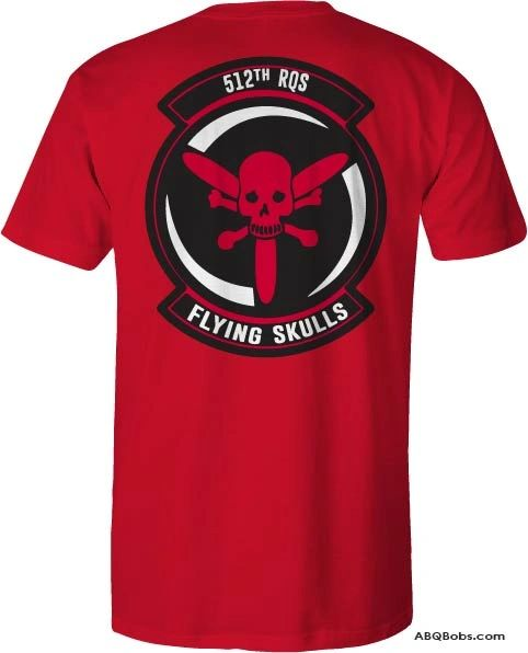 512 RQS Flying Skulls T-shirt 2 Colors to Choose From