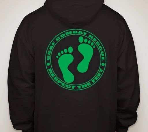 Black Hoodie - USAF Combat Rescue Respect the Feet