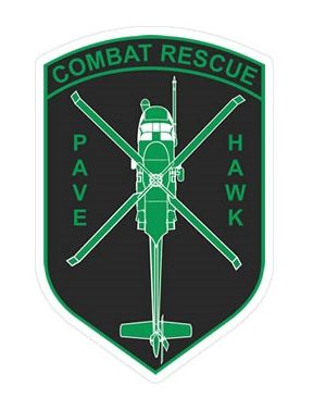 Combat Rescue Pave Hawk Shield Sticker