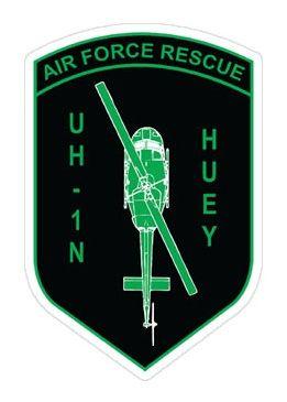 Air Force Rescue UH-1N Huey Shield Sticker