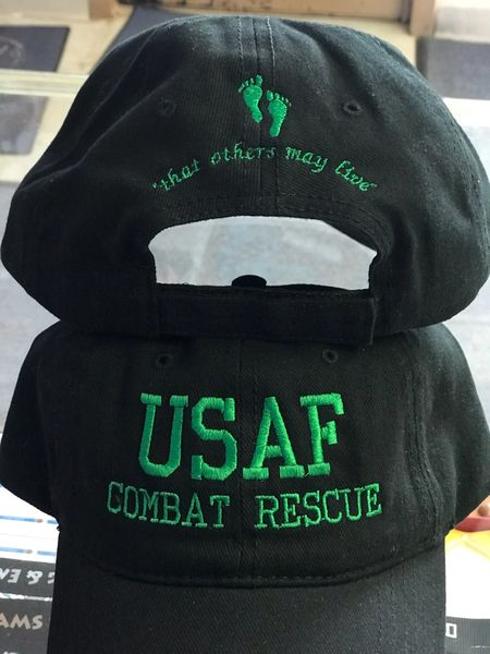 Black Old School USAF Combat Rescue That Others May Live Hat