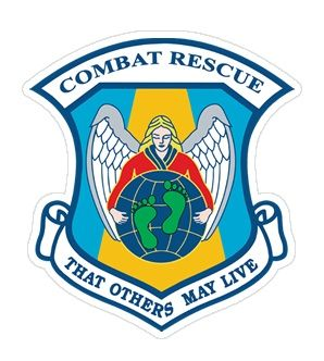 USAF Combat Rescue Angel with Green Feet Sticker