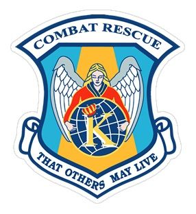 USAF Combat Rescue Angel with King K Sticker