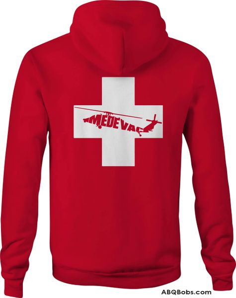 Medevac Helicopter and Cross Hoodie