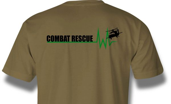 Pre-order Combat Rescue Whiskey Heartbeat Shirts