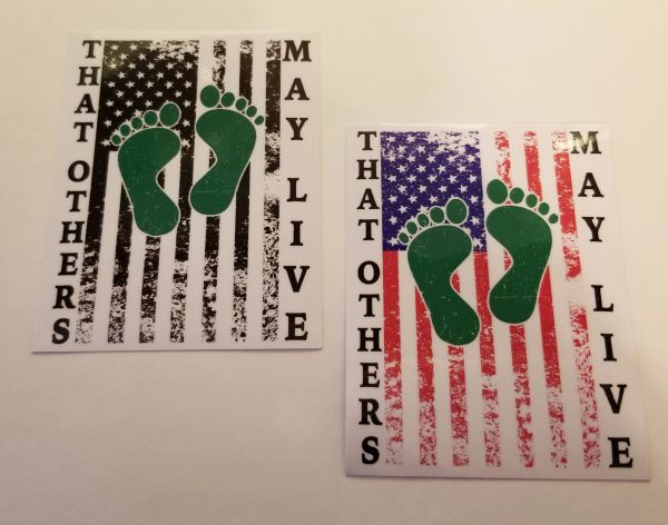 Choice of Colors TOML Green Feet Flag Sticker