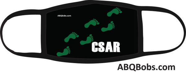 CSAR Green Feet Running Face Mask