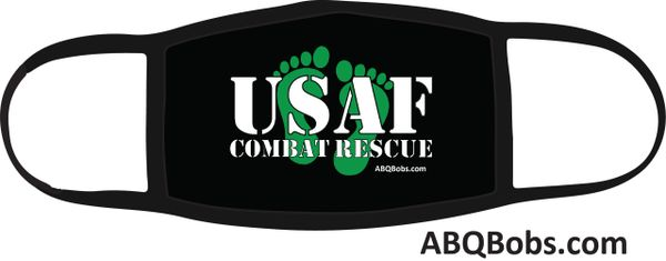 USAF Combat Rescue with Green Feet Face Mask
