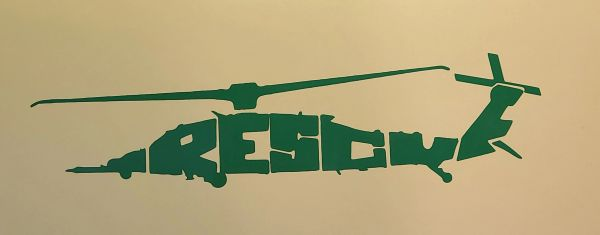 """HH-60W """"Whiskey"""" Helicopter Combat Rescue CSAR Vinyl Window Decal"""