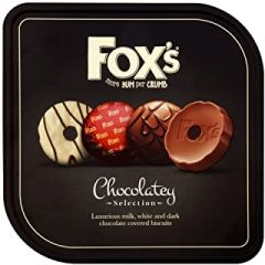 Foxes Chocolatey Assortment of Biscuits TIN - 365g