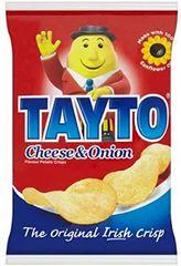 Tayto Cheese and Onion crisps bag