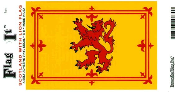 Scotland Lion Decal