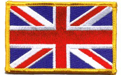 Union Jack Iron on Woven Patch