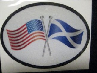 USA/St Andews Flag Decal and Bumper Sticker