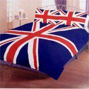 Union Jack Duvet Set (Double) + 2 Pillow Cases