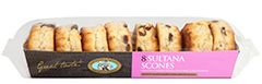 Scones (packet of 8) temp out of stock