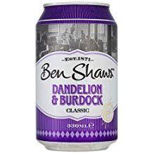 Dandelion and Burdock cans - Ben shaws