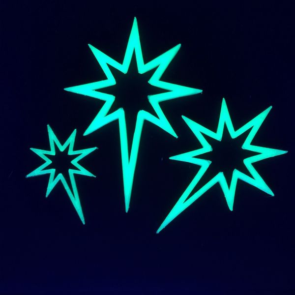 Glow In The Dark Star Ornaments
