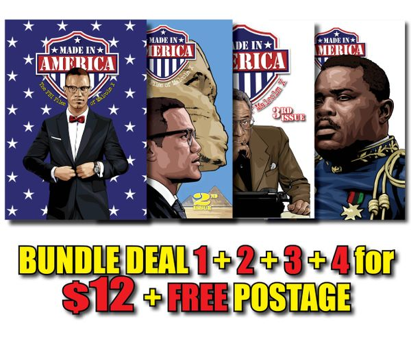 SPECIAL BUNDLE DEAL! All FOUR Issues! #1 + #2 + #3 + #4 + FREE Shipping Worldwide!