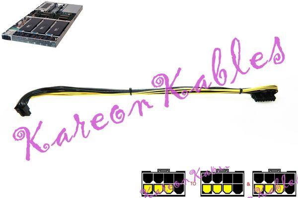 Supermicro X10DGQ 90 degree Male 8-Pin PCI-E to Dual 8-Pin PCI-E Low  Profile Cable