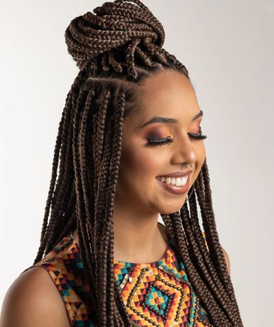 Beautiful braids... why not nourish your scalp to keep your natural hair healthy.