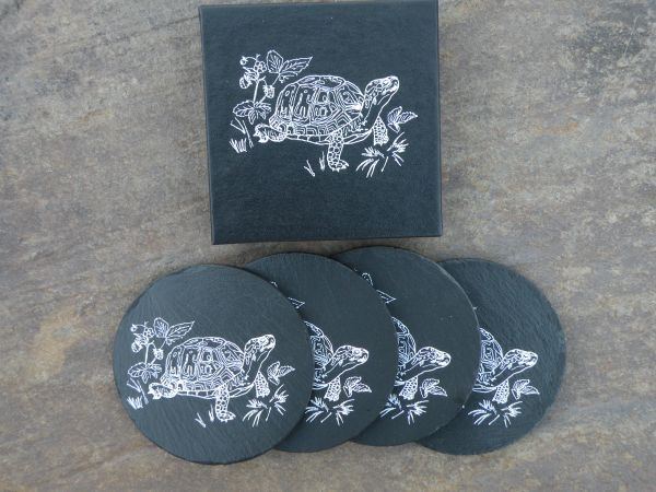 SET OF FOUR TURTLE COASTERS