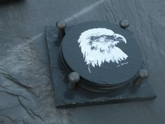 Slate Coaster Gift Set-Eagle