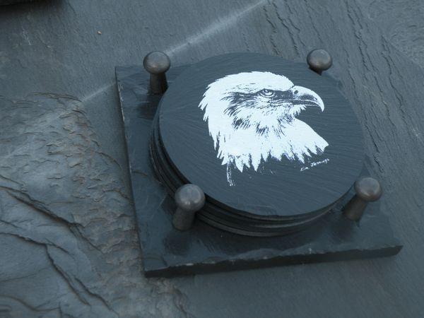 Slate Coaster Gift Set-Eagle