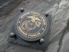 MILITARY SLATE COASTER --- Marine